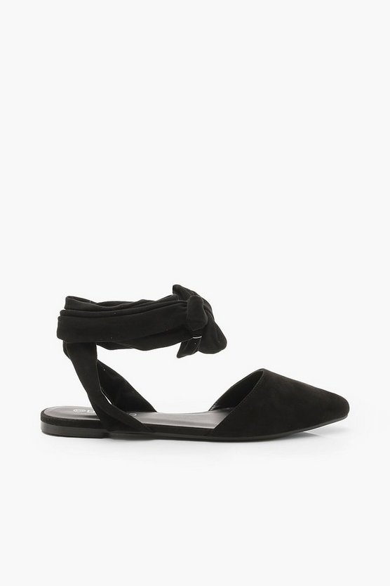 Wrap Strap Pointed Flats