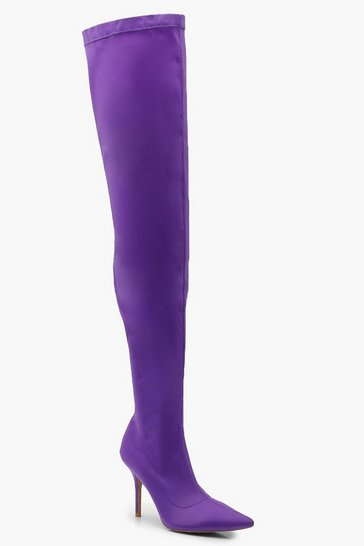 Over the knee boots high heel