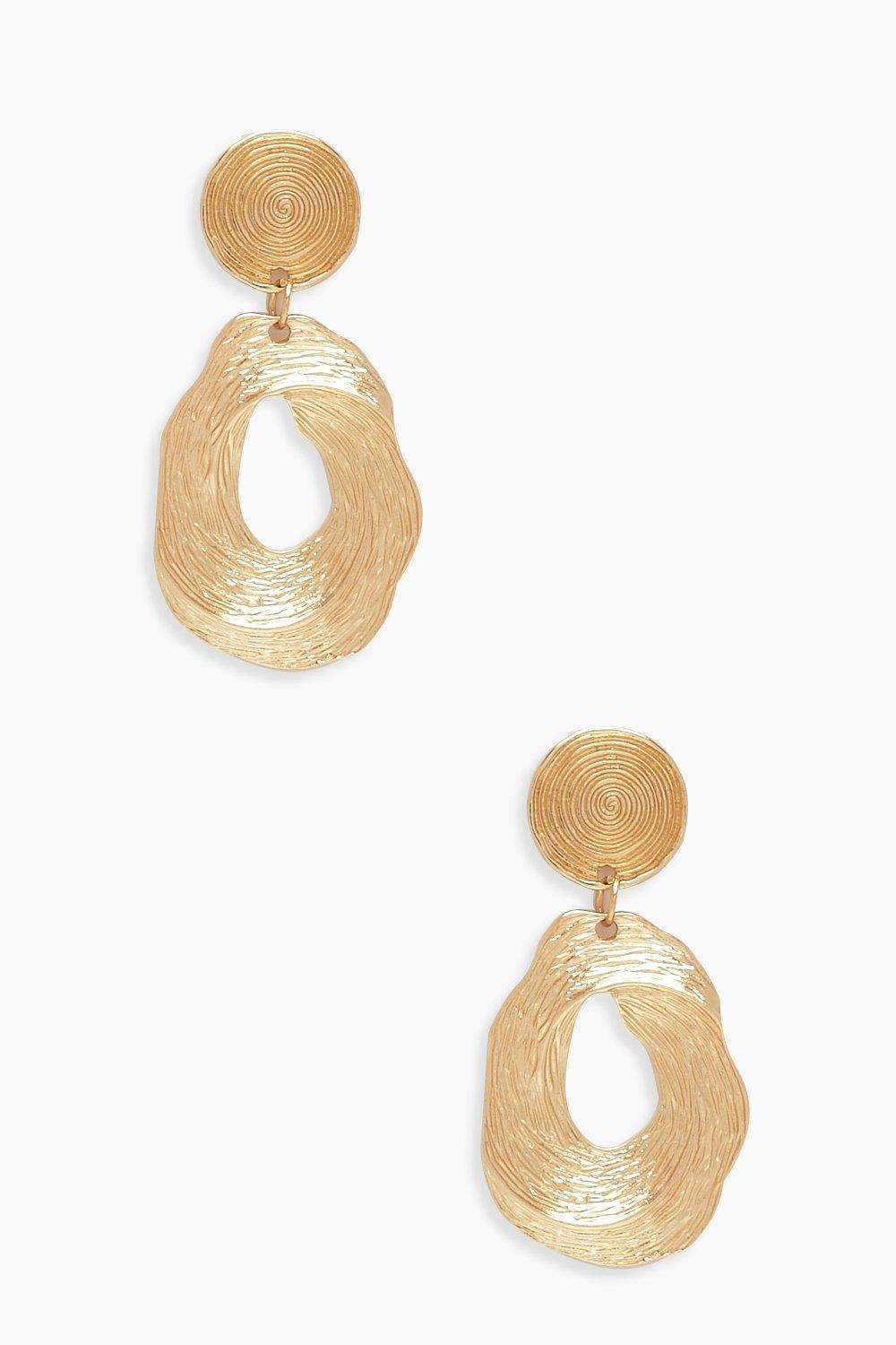 Spiral Textured Statement Earrings