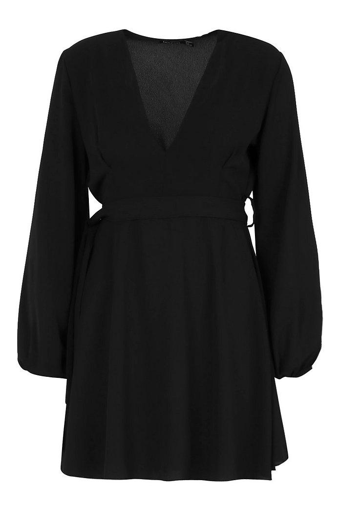 Belted V Neck Shift Dress | boohoo SE