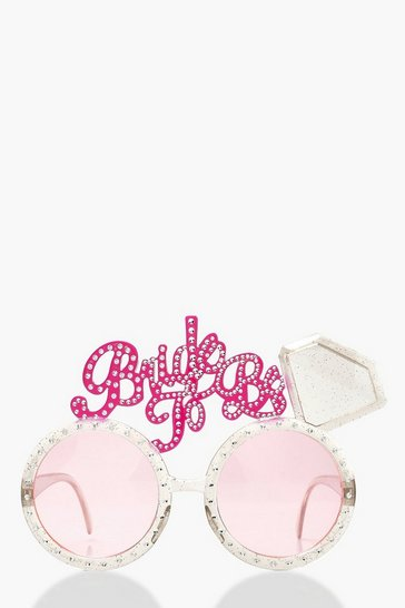 Womens Pink Bride To Be Novelty Glasses