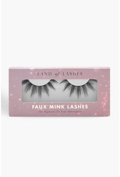 Land of Lashes Faux Mink Paloma, Black, Donna