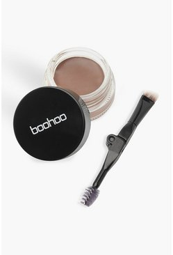 Womens Brown Boohoo Eyebrow Cream - Dark