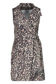 54a916c88601b ... Womens Natural Leopard Buckle Pocket Blazer Dress alternative image ...