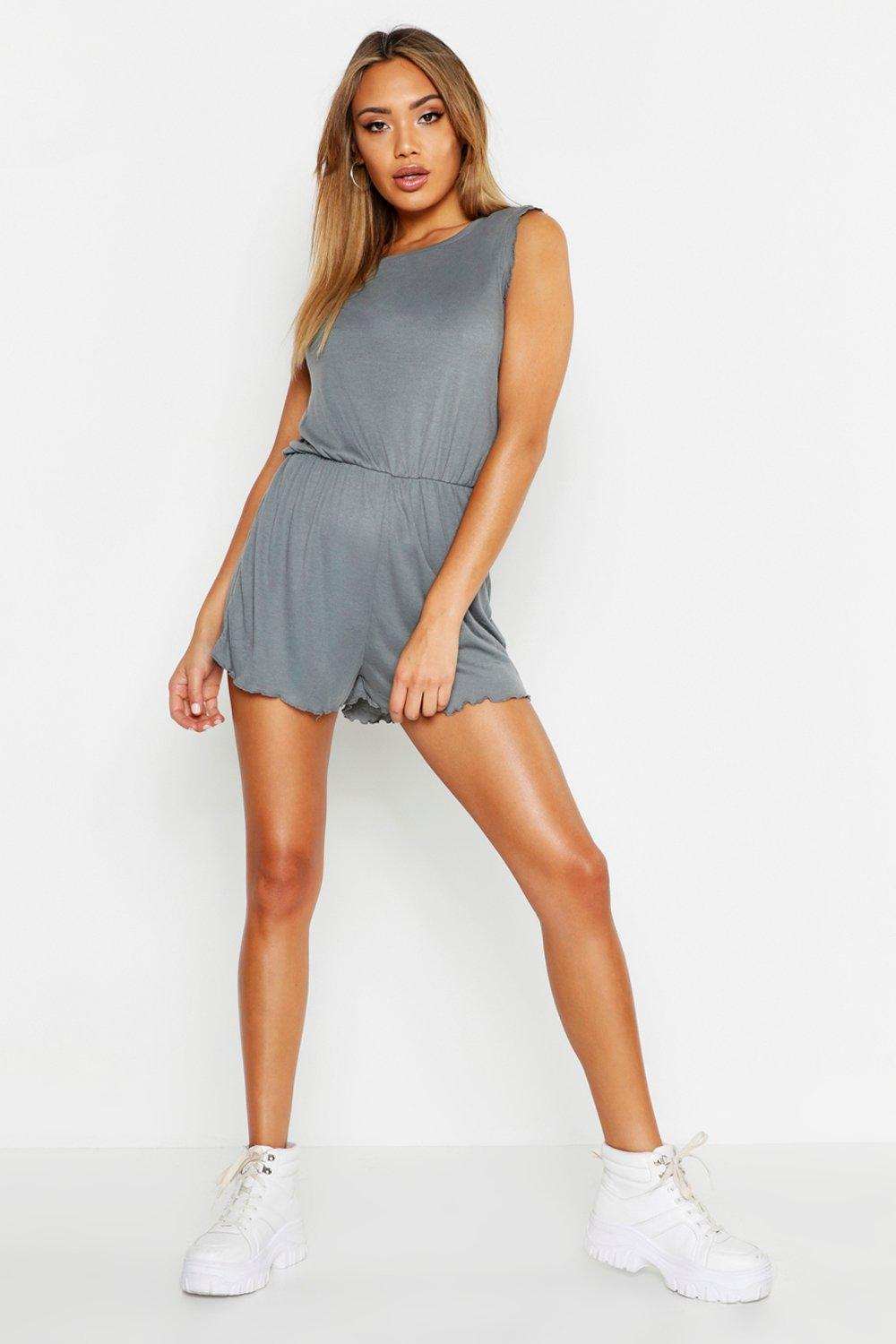Lettuce Hem Sleeveless Playsuit
