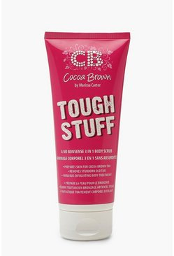 Exfoliante 3 en 1 marrón chocolate Tough Stuff, Rosa, Mujer