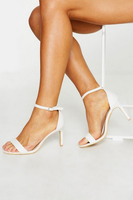 White Extra Wide Fit Low Heel 2 Parts