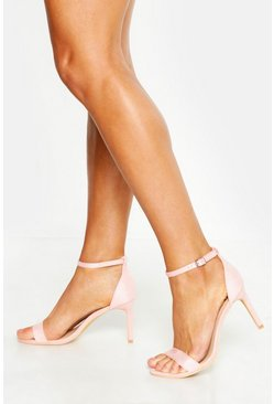 Womens Blush Wide Fit Low Heel 2 Parts