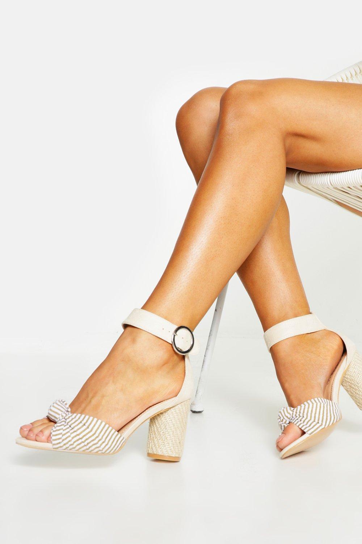 Wide Fit Espadrille Heel Sandals | boohoo Australia