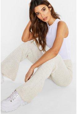 Womens Stone Pocket Front Knitted Trouser