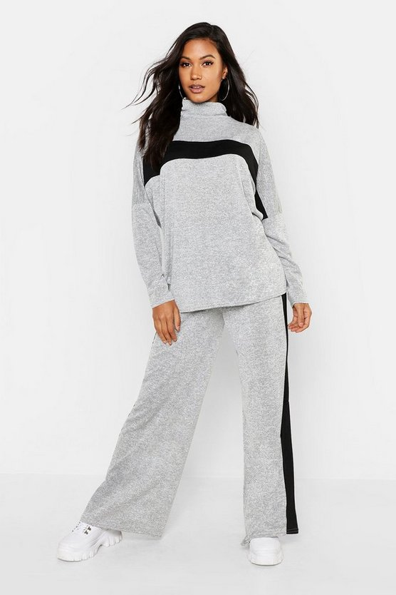 Knitted Sports Athleisure Roll Neck Lounge Set