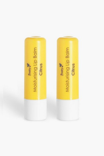 Womens Yellow Pretty Citrus Lip Balm