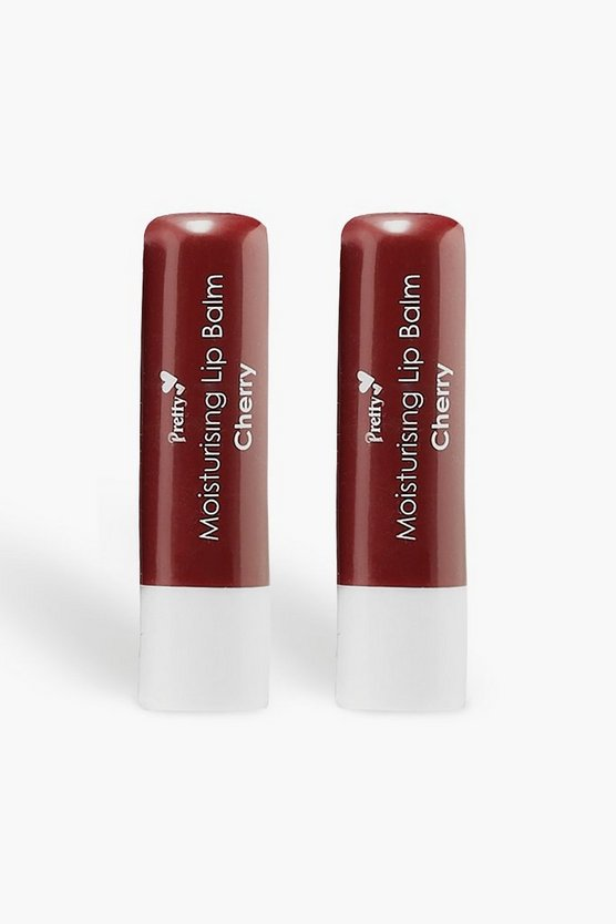 Pretty Cherry Lip Balm, Red, Donna