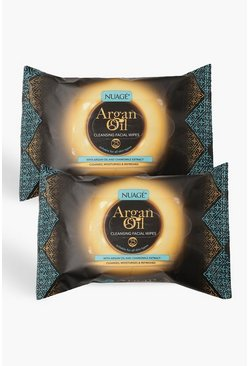 Nuage Argan Oil Cleansing Wipes Twin Pack, Multi
