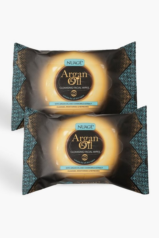 Womens Multi Nuage Argan Oil Cleansing Wipes Twin Pack