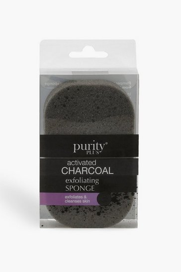 Womens Black Purity Plus Charcoal Exfoliating Sponge