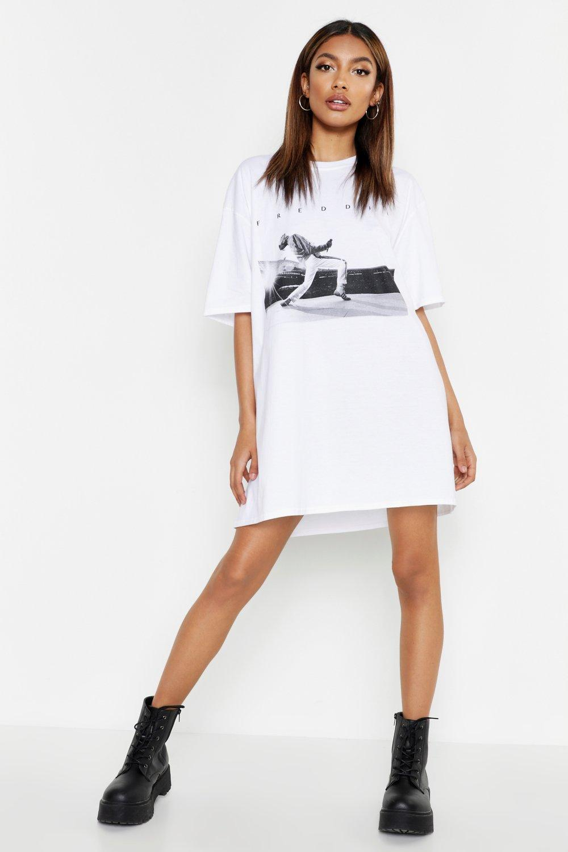 Freddie Mercury Licensed T Shirt Dress | boohoo