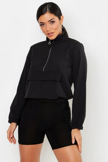 Womens Panelled Windbreaker
