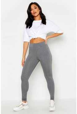 Womens Grey Mid Rise Legging