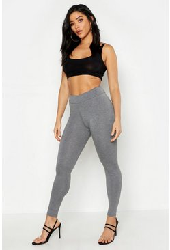Womens Grey High Waisted Legging