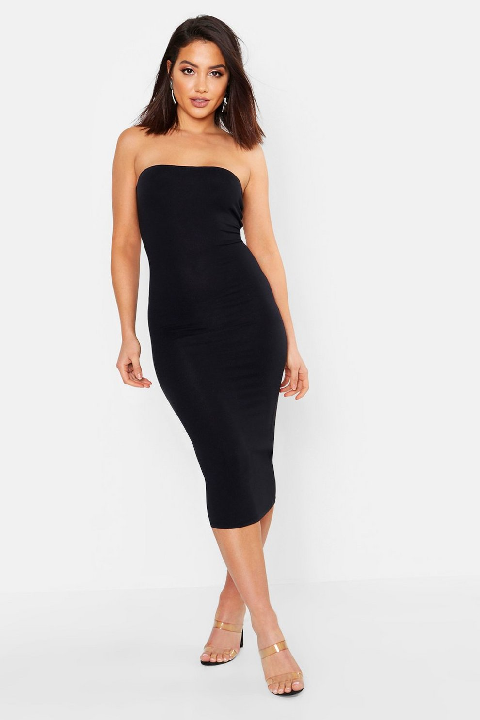 d25c6cd85a Bandeau Bodycon Midi Dress | Boohoo