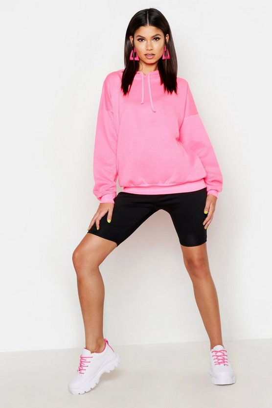 Womens Neon-lime Soft Oversized Hoodie