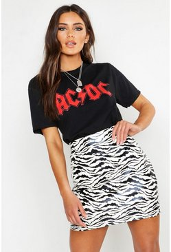 Womens Black ACDC Licenced T-Shirt