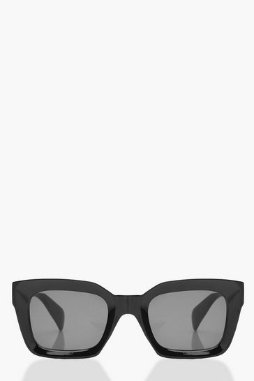 Womens Oversized Black Sunglasses With Pouch