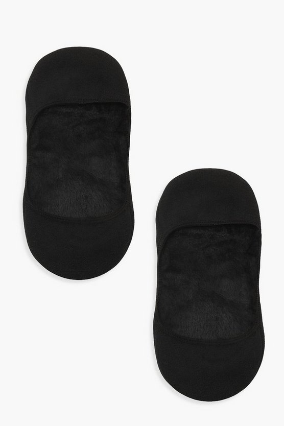 Black Thermal Invisible Socks 2 Pack
