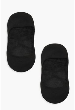 Womens Black Thermal Invisible Socks 2 Pack