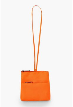 Womens Orange Neon Sports Front Bag