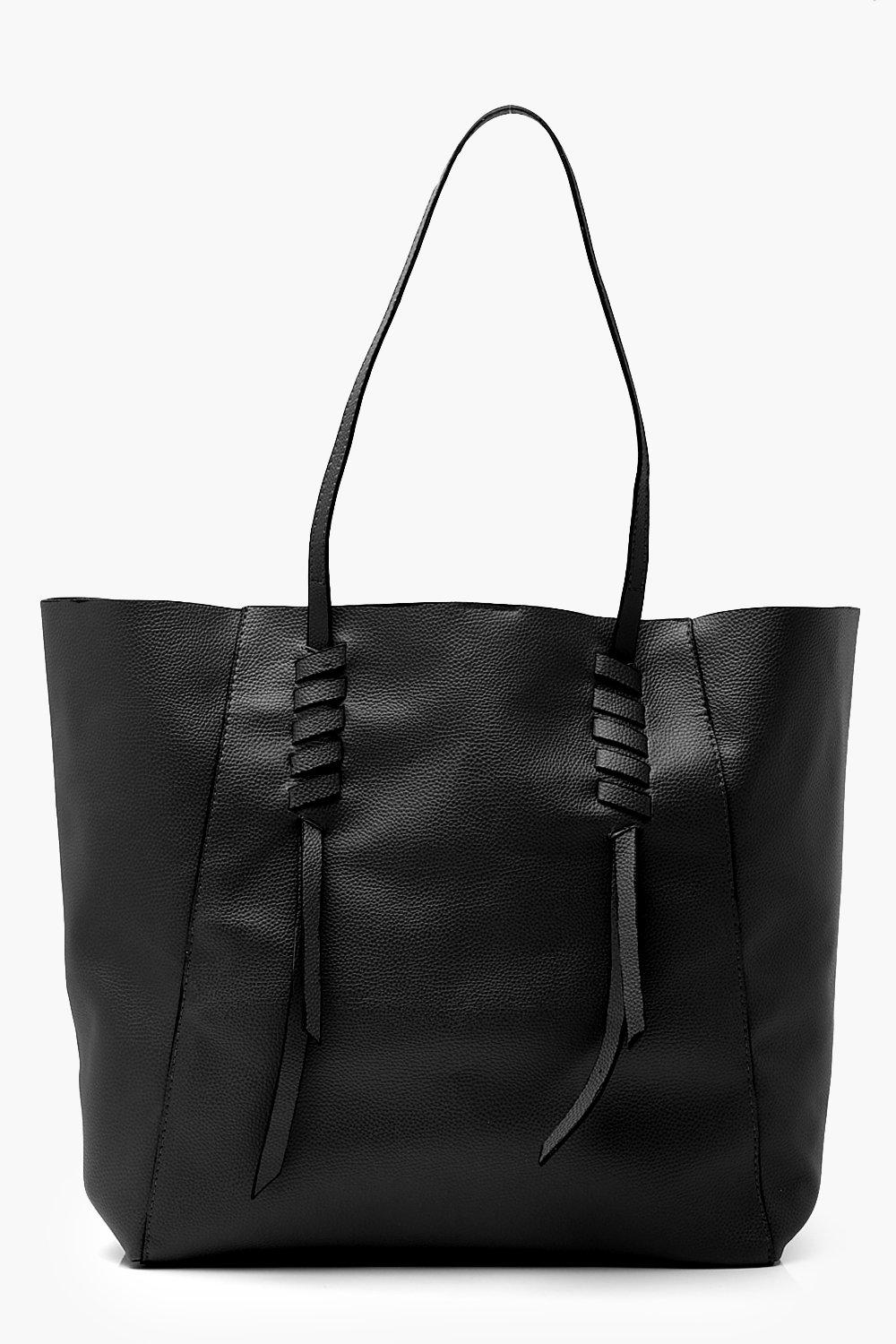 Whipstitch Detail Shopper Tote