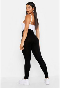 Womens Black Ruched Bum Detail Jersey Legging