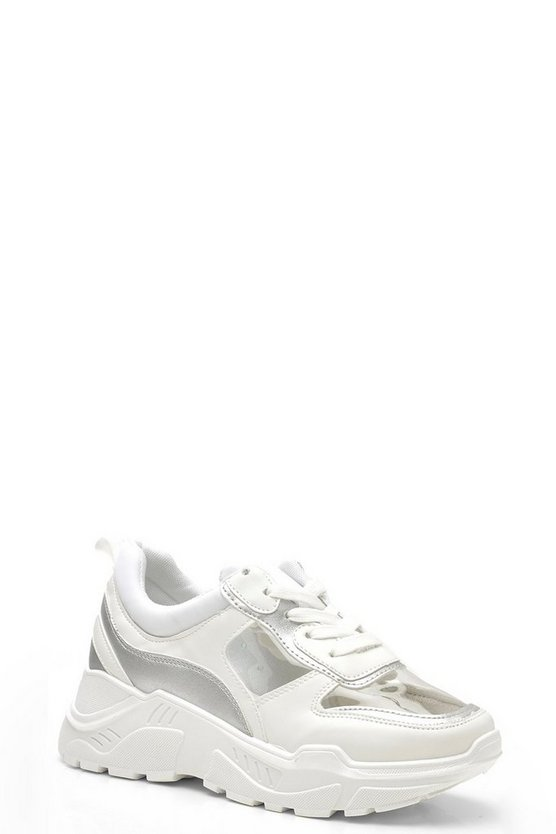 Perspex Panel Chunky Trainers