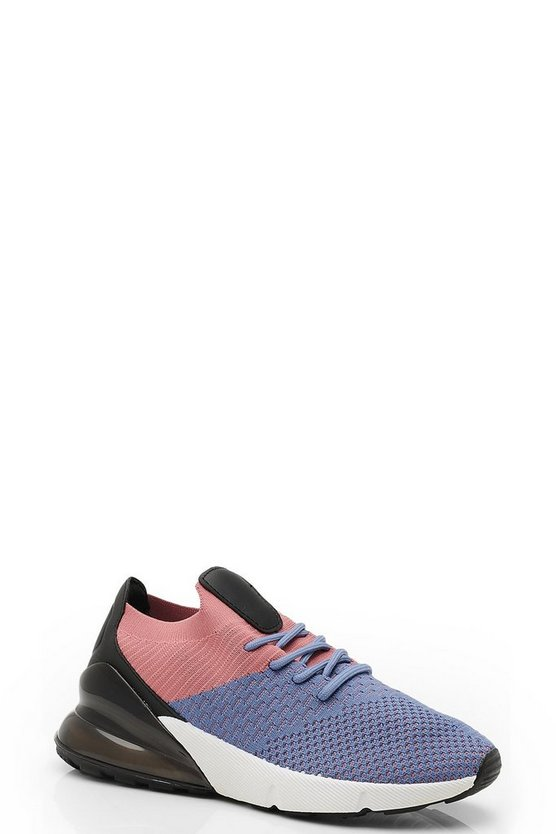Knitted Lace Up Sports Trainers