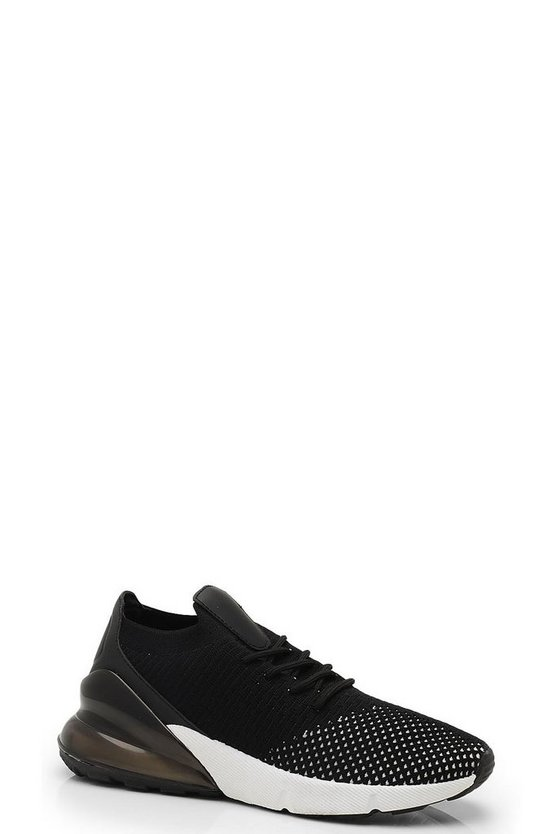 Knitted Lace Up Sports Sneakers