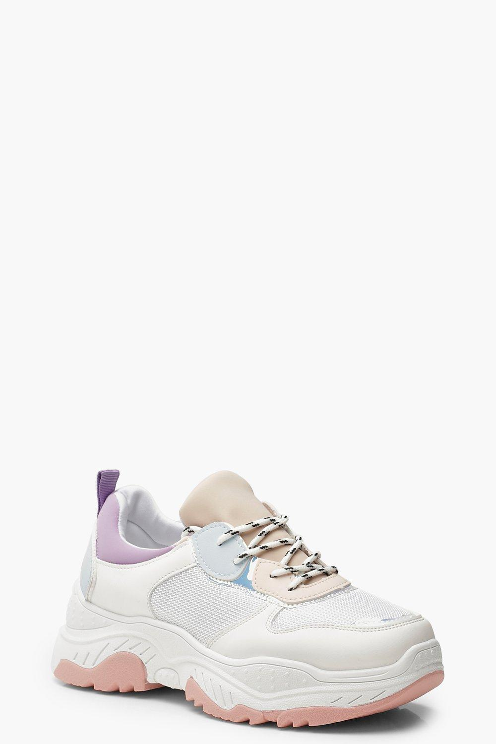 half off b500c 2a574 Colorblock-Sneaker in Pastell mit dicker Sohle | Boohoo