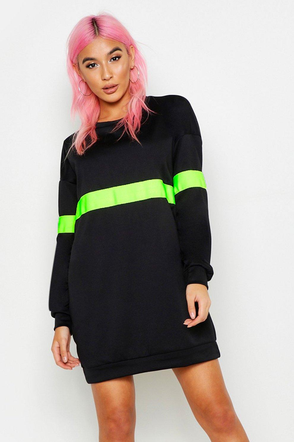 5aec67fbe69 Neon Stripe Sweater Dress
