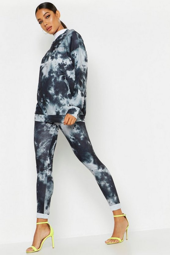 Womens Black Tie Dye Legging