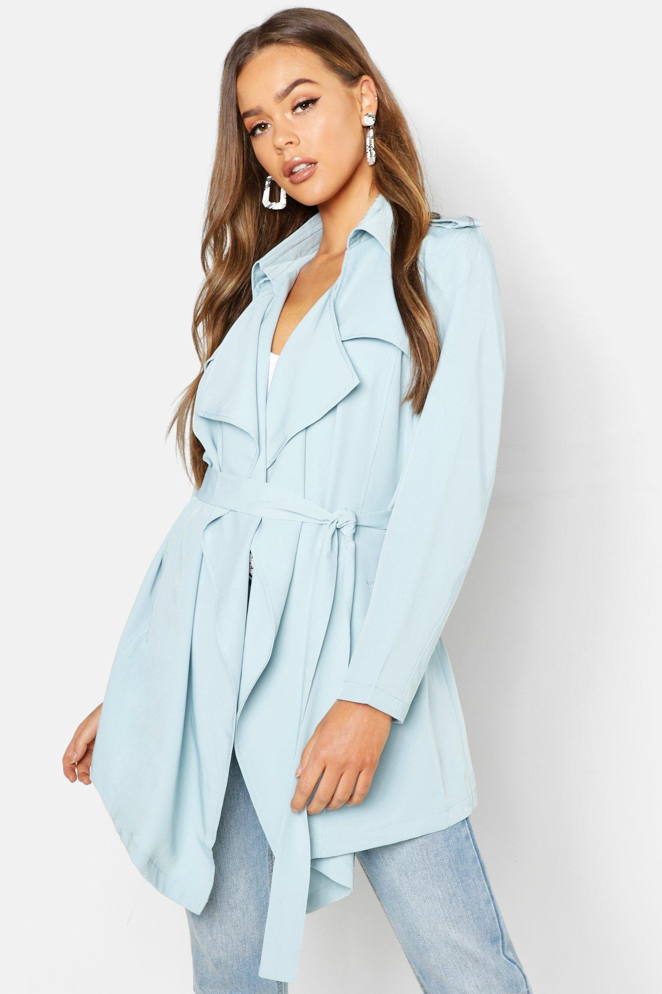 Waterfall Front Trench Coat