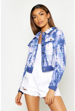 Womens Blue Tie Dye Jacket