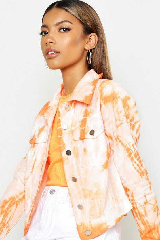 Orange Tie Dye Jacket