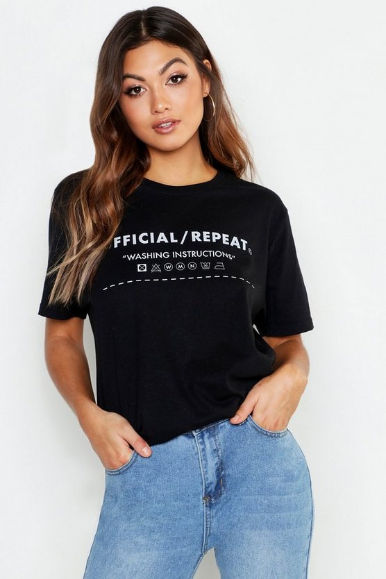 100% Recycled Slogan Oversized T-Shirt
