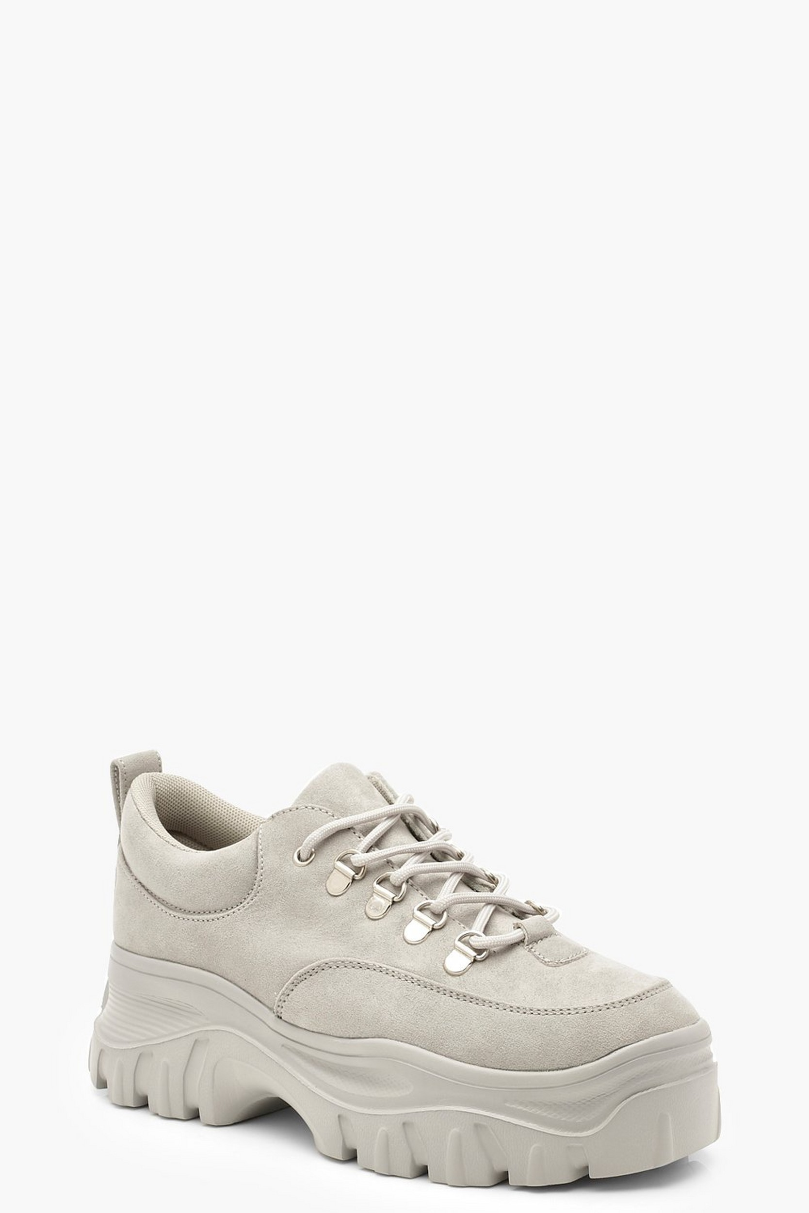 Chunky Lace Up Hiker Trainers by Boohoo