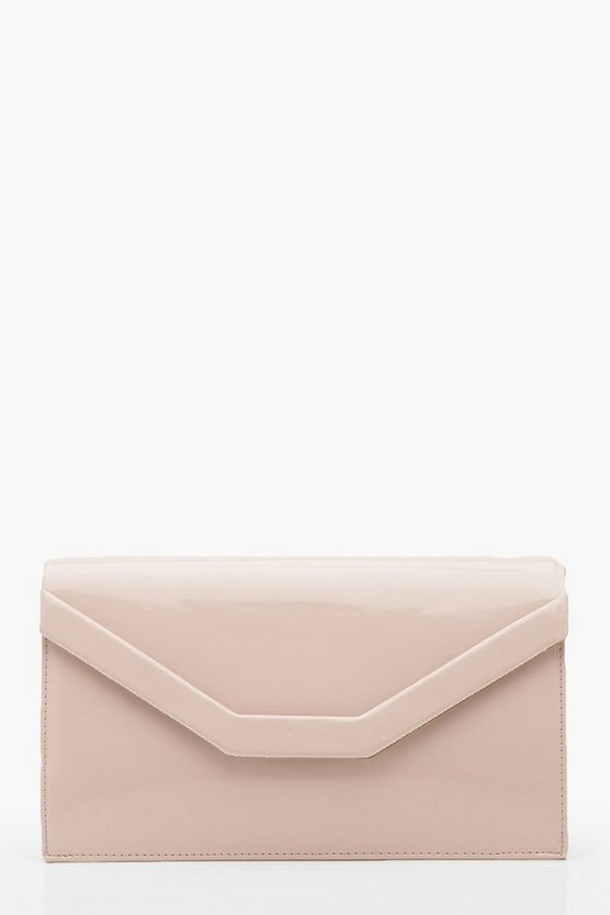 Womens Embossed Envelope Clutch & Chain