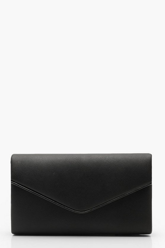 Crosshatch Piping Trim Envelope Clutch