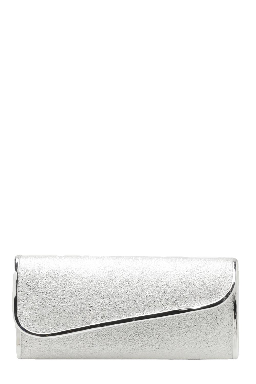 6485e92760 Piping Trim Metallic Clutch Bag | Boohoo
