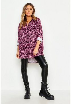 Womens Black Oversized Shirt
