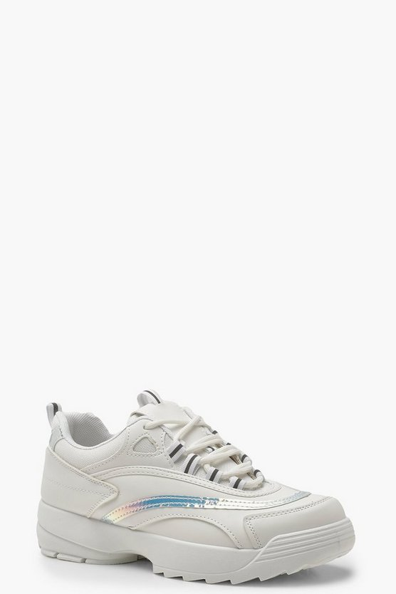 Reflective Trim Chunky Sneakers