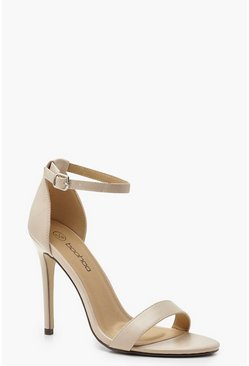 Nude Wide Fit Stiletto Heel 2 Parts